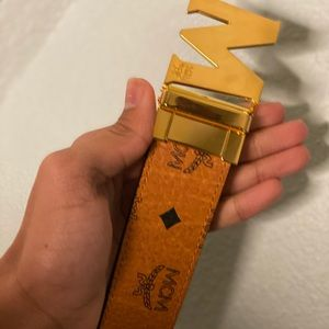 MCM Belt Brown and Red 34-32